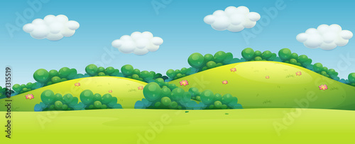 Poster Lime groen A beautiful green landscape