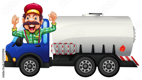 A Tank truck and driver