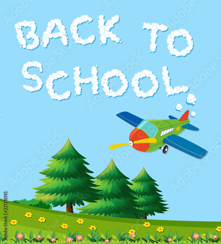 Back to school nature template