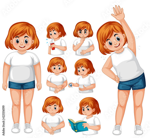 Girl with diabetes exercise