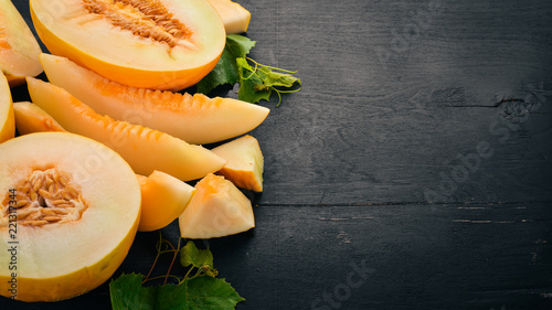 Fotografie, Obraz Fresh melon Sliced to pieces of melon