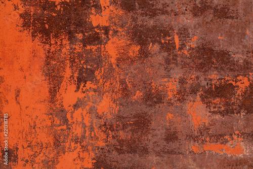 Poster Metal Grunge rusted metal texture. Rusty corrosion and oxidized background. Worn metallic iron panel.