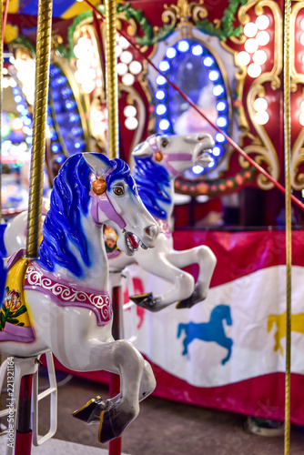 Fotografie, Obraz  State Fair Amusement Park Ride