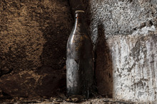 Very Old And Aged Brown Bottle...