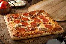 Square Crust Flatbread Pizza