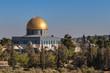 Close up of muslim golden mosque Al Aqsa in Jerusalem