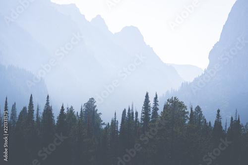 Aluminium Prints Haze in the Canyon