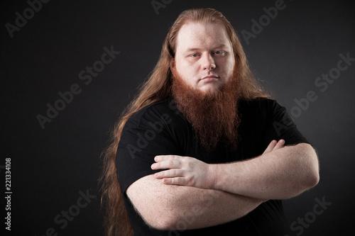 Fotografiet  Portrait of a handsome man