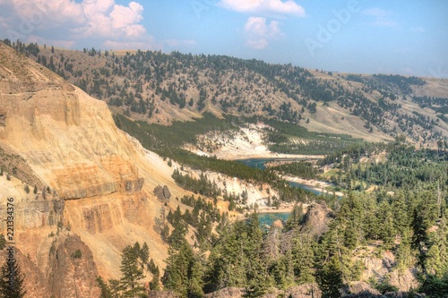 Foto op Canvas Khaki Yellowstone is a Popular National Park in Montana, Wyoming, and Idaho