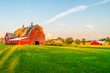 canvas print picture - The Sun Begins To Set on a Farm in Minnesota