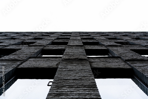 Stone wall from below