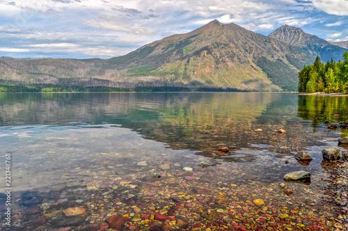 Fotografia, Obraz  Mountain Reflections in Lake MacDonald in Montana's Glacier National Park