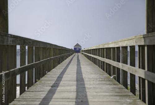 Fényképezés  The long pier. Shot in Denmark