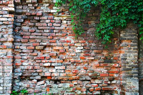 Photo  old brick wall