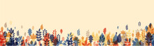Autumn Banner With Beautiful Colorful Leaves.
