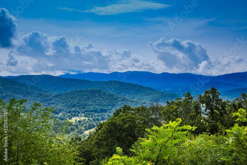 Stormy Skies Over Blue Ridge Mountains Fototapet
