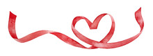 Red Ribbon Shaped As Love Hear...