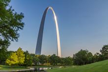 Gateway Arch In Early Evening Light, St. Louis, Missouri