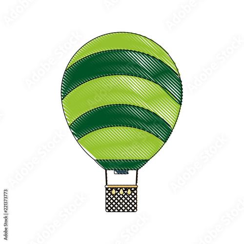 Fényképezés  doodle cute air balloon transport design