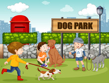 People In Dog Park