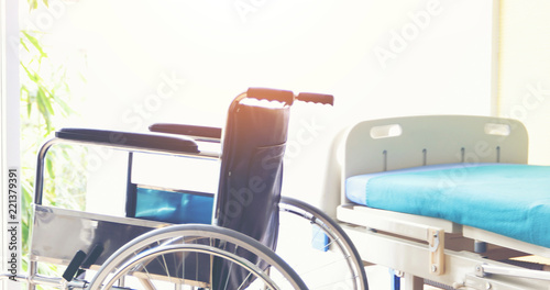 Fotografia Wheelchairs waiting for patient services in the hospital