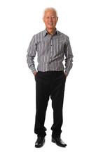 Asian Senior Business Male Ful...