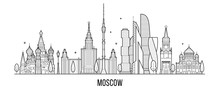 Moscow Skyline, Russia Vector ...