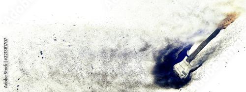 壊れるエレクトリックギター - 221381707