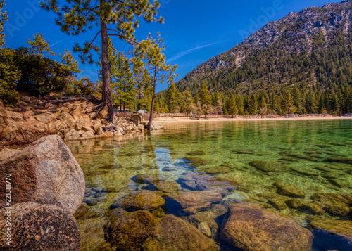 Photographie  Long exposure of Sand Harbor at Lake Tahoe North, Nevada county, California, USA