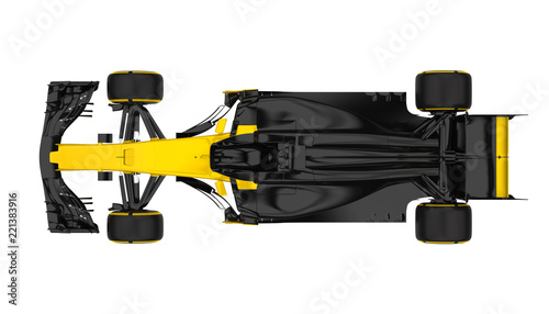 Staande foto F1 Formula One Race Car Isolated