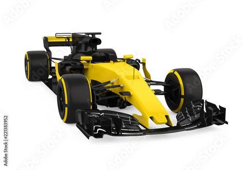 Poster F1 Formula One Race Car Isolated