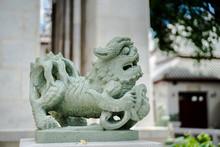 Chinese Style Stone Lion Statu...