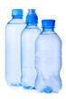 Water plastic bottle on white background