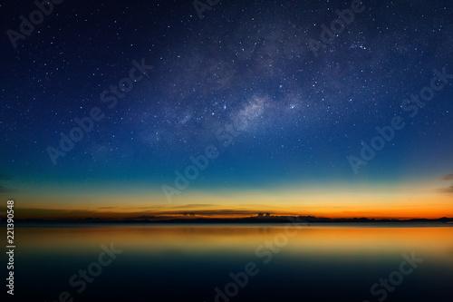 Poster Mer coucher du soleil The twilight sky