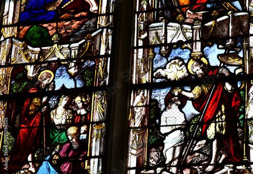 Fotografia, Obraz  Vernon, France - july 27 2018 : gothic Notre Dame collegiate church