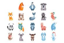 Animals In A Geometric Flat St...