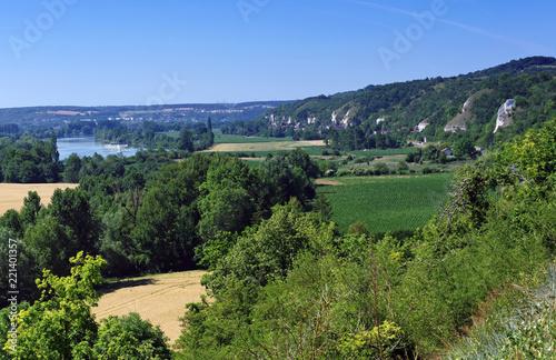 Hills of the seine river in the Vexin Français Regional Nature Park Fototapeta