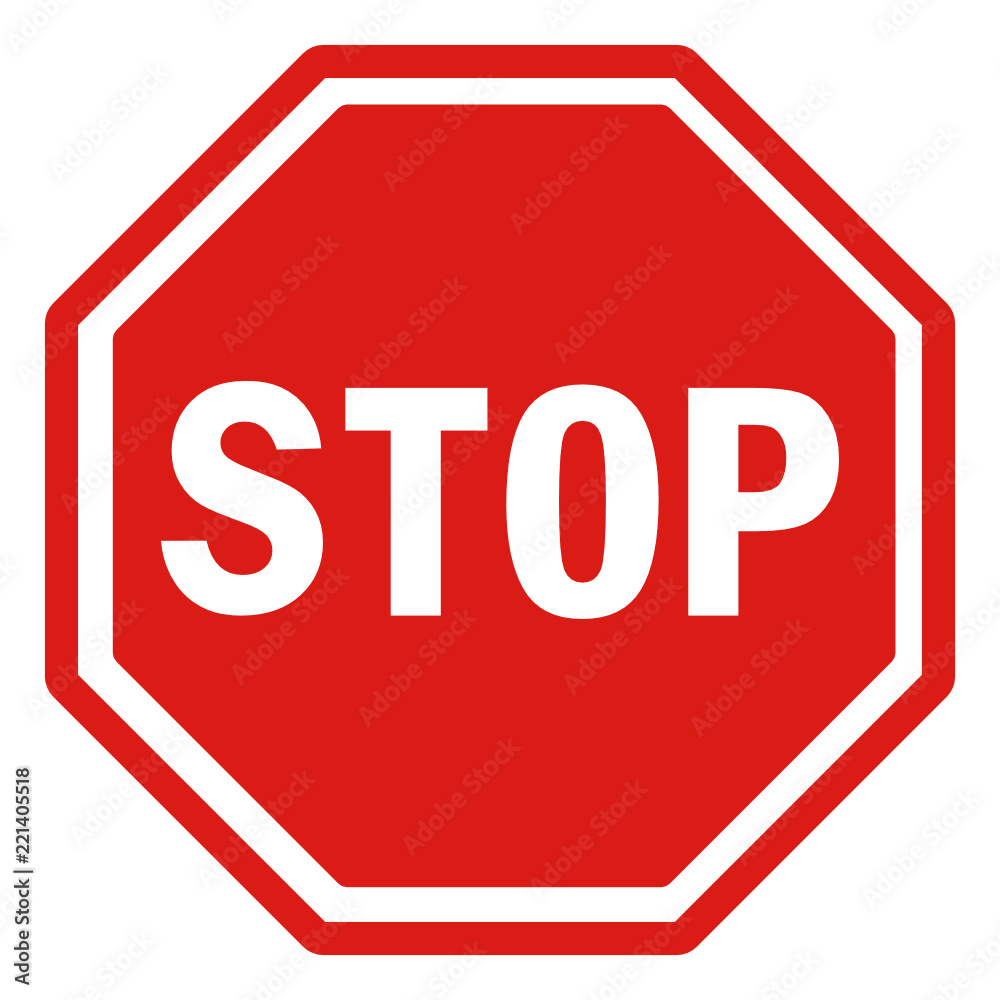 Fototapety, obrazy: Stop! traffic sign