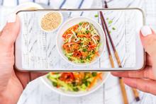 Mobile Shot Of Asian Salad
