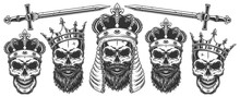 Set Of Skulls In The Crowns
