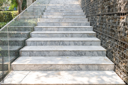 Photo Stands Stairs Empty marble stair - Outdoor modern architecture