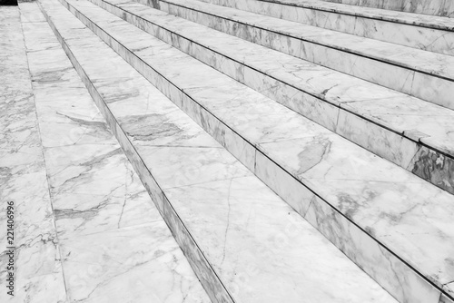 Poster Trappen Empty marble stair - Outdoor modern architecture