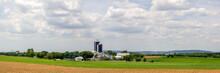 Panorama Of Rural American Farmland