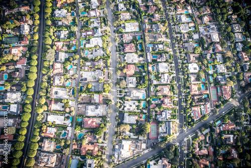Spoed Foto op Canvas Verenigde Staten Beverly hills aerial view
