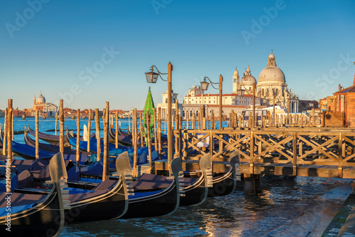 Foto op Plexiglas Venetie Sunrise in San Marco square, Venice Grand Canal. Venice, Italy.