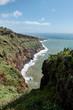 View of the coastline of Caniço, Madeira near Funchal city