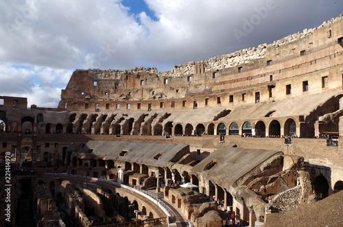 l'intérieur du Colisée a Rome Tableau sur Toile