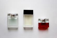 Three Rectangular Glass Perfum...