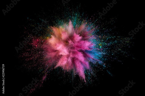 Valokuvatapetti Colored powder explosion
