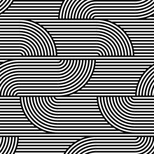 Abstract Vector Seamless Op Art Pattern. Black And White Pop Art, Graphic Ornament. Optical Illusion.